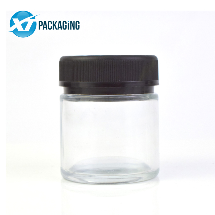 3oz tamper proof lock glass jar for marijuana flower child resistant lid picture