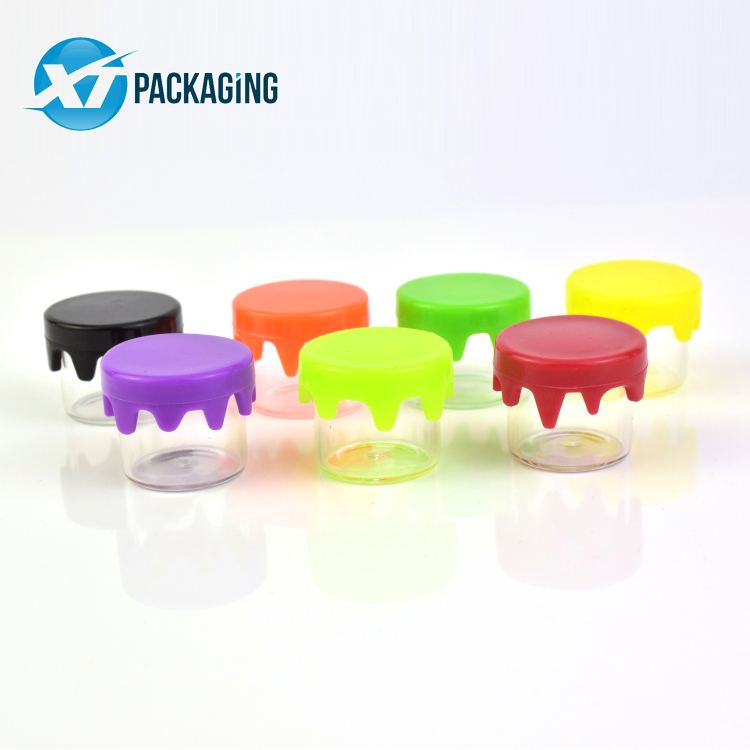 6ml high borosilicate glass mini glass jar with silicone drippy cap little glass bottle