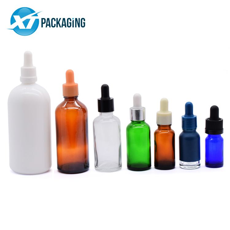 Custom 10ml 15ml 30ml 50ml 100ml 200ml Essential Glass Bottle for oil CBD oil child resistant lid picture